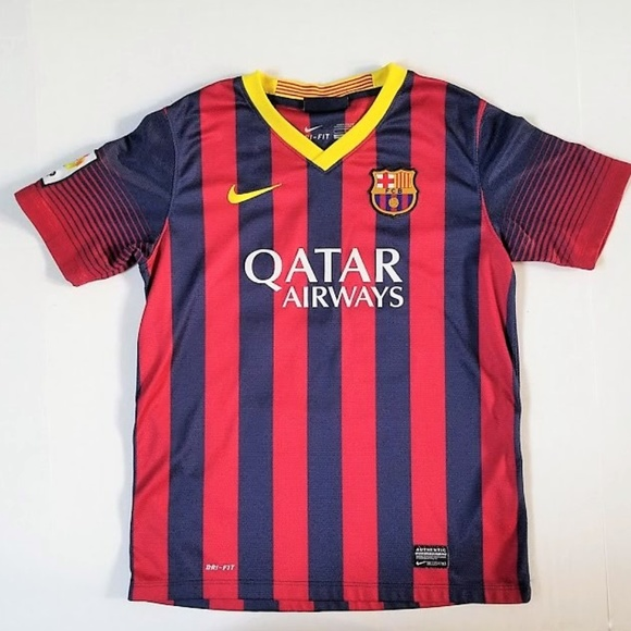 huge discount 3d0c4 49218 NIKE FC Barcelona Jersey MESSI Youth L